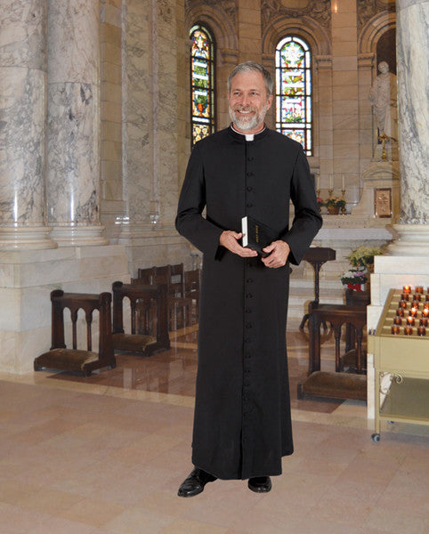 Cathedral Cassock - Roman Style Tropical Wool