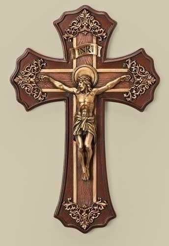 Victorian Style Crucifix 10.25""