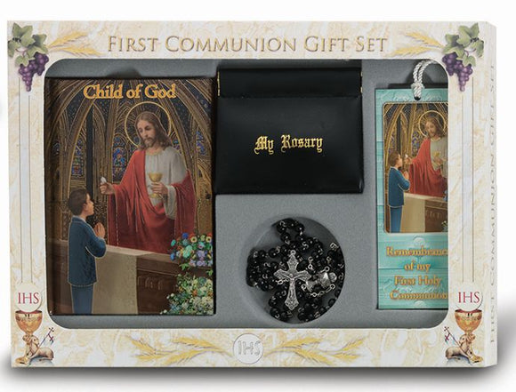 BOY'S FIRST COMMUNION 6 PIECE DELUXE GIFT SET