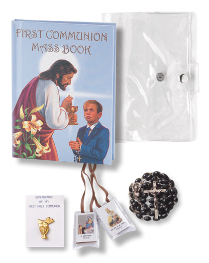 BOY FIRST COMMUNION 5 PIECE GIFT SET
