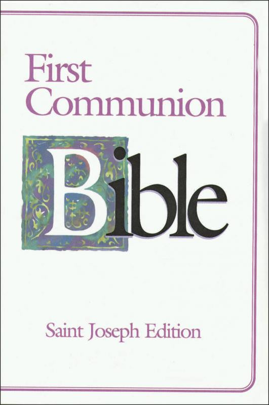 ST. JOSEPH FIRST COMMUNION BIBLE (N.A.B.R.E./Girls)