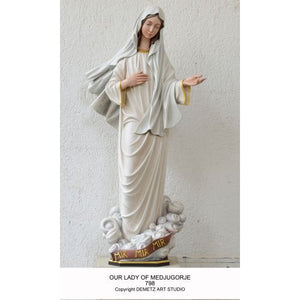 Our Lady of Medjugorje Demetz Statue