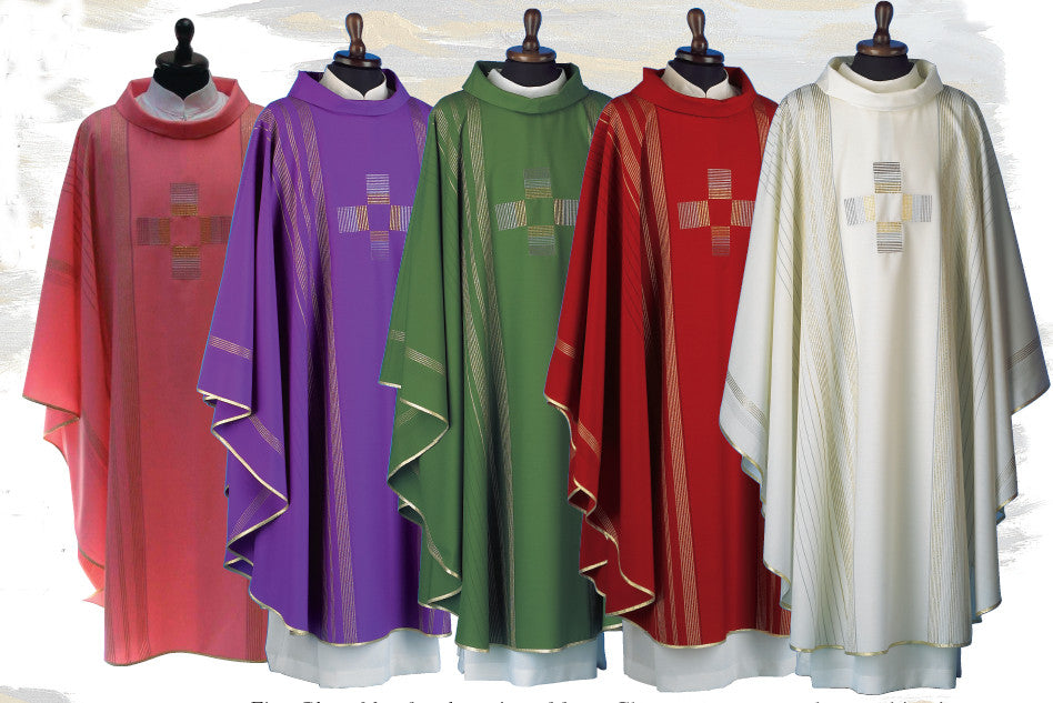 Gothic Chasuble | Soft Wool | Matching Underlay Stole Included