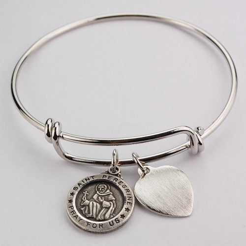 St. Peregrine Bracelet Medal - Patron Saint of Cancer