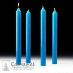Advent Altar Candles - 4 Blue