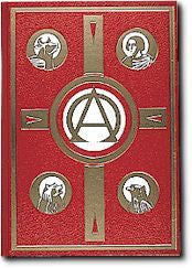 Book of Gospels - Red Leather Gold Edges