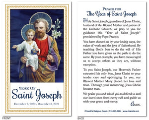 Year of Saint Joseph Prayer Cards - Pack of 100