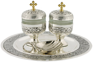 Baptismal Set - Antique Silver Plated - K352