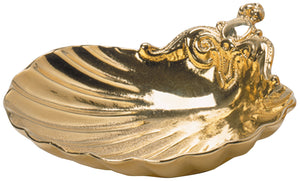 Baptismal Shell - Cast Bronze Gold Plated - K421