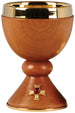 Chalice and Ciboria - Gold plated with wood