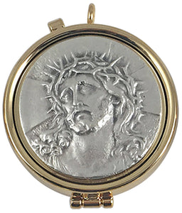 Gold Plated Pyx - Jesus with Crown of Thorns - K90