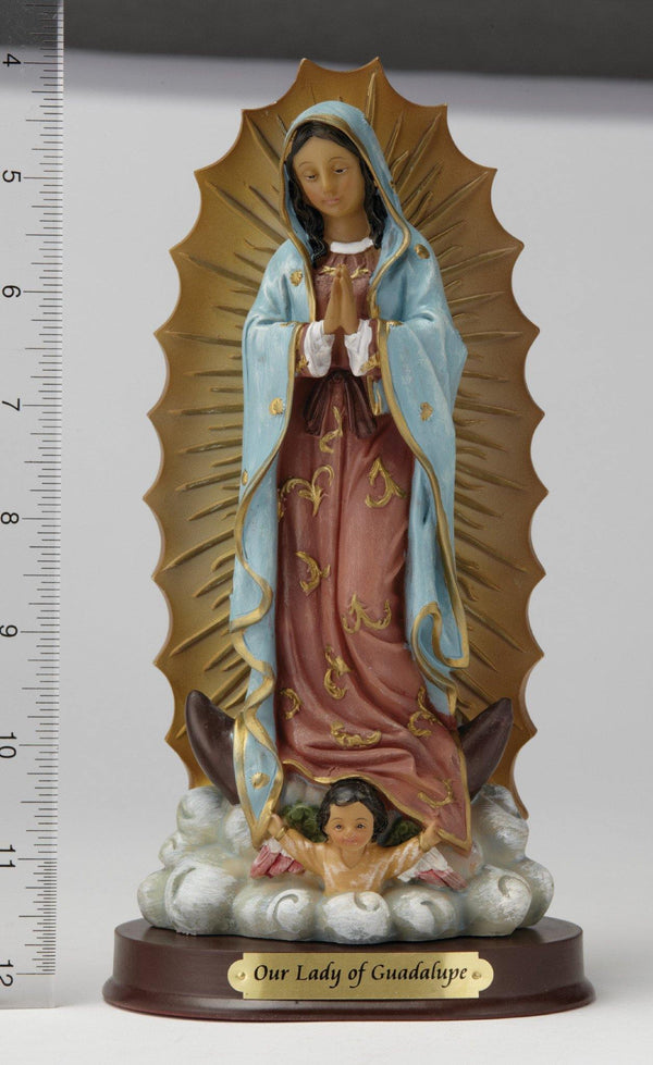 "8"" Our Lady of Guadalupe Statue - Hand Painted"