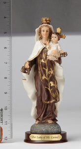 "8"" Our Lady of Mount Carmel - Hand Painted"