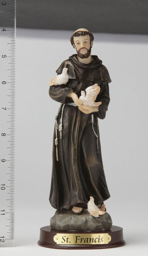 "8"" St. Francis Statue - Hand Painted"