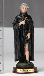 "8"" St. Peregrine Statue - Hand Painted"