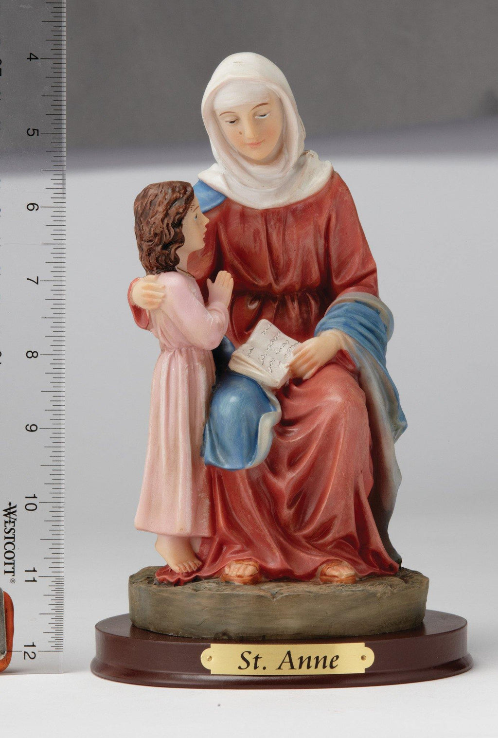 "8"" Saint Anne Statue - Hand Painted"