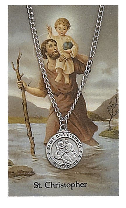 St Christopher Medal with Prayer Card