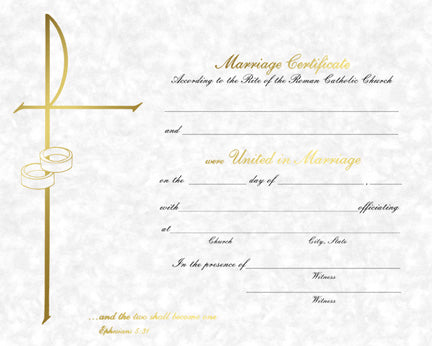 Parchment Marriage Certificate