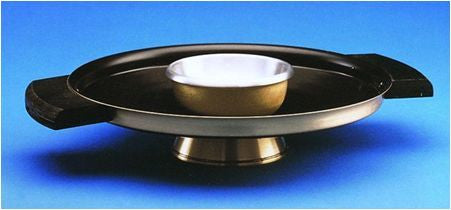 "Brazier - Brass with Wood Handles - 16"" Diameter"