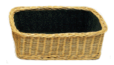 "Rectangular Collection Basket - Double Depth (8"" Deep) - with OR without Removable Liner"