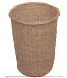 "Round Collection Basket - 14"" Deep 14"" Diam. - with OR without Removable Liner"