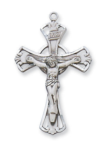 "Sterling Silver Crucifix - 18"" Chain and Gift Box"