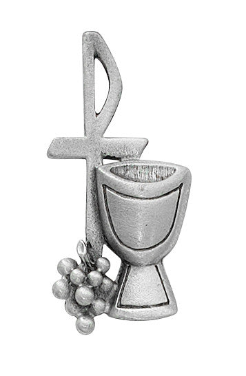 First Communion Pin - Silver