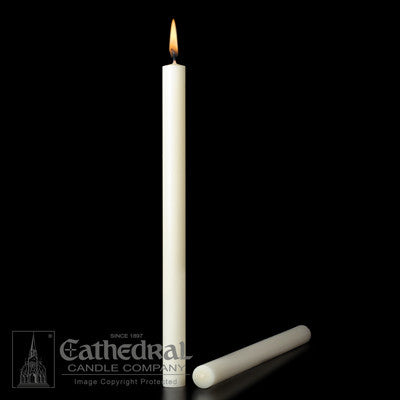 "Altar Candles - Short 1'S - 1-1/4"" x 24-3/4"" - 51% Beeswax"