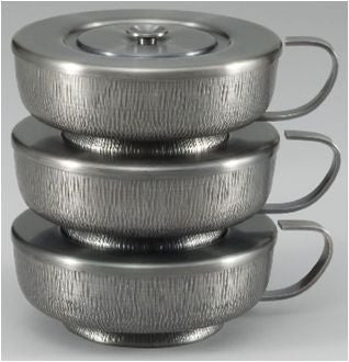 Stacking Ciboria - Oxidized Silver Exterior and Polished Interior - Z2598