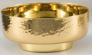 Bowl Paten - Polished Gold Plated - z4910 - Choose Size