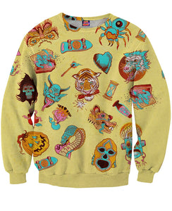 Andy Reach Monsters All Over Sweatshirt