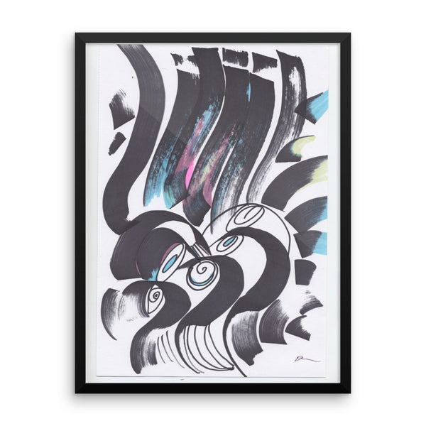 Abstract Organic Ink Framed photo paper poster