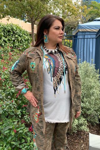 Beaded Camp Jacket