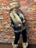 Taupe Fox Faux Fur Russian-Style Hat