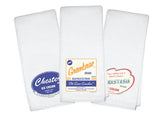 Personalized Baby Burp Cloths - Retro Ice Cream Design