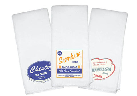 Ice Cream Burp Cloths (set of 3) - Retrofit Baby