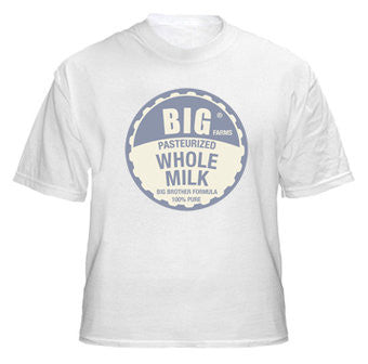 Big Brother / Big Sister Shirt - Retro Milk Bottle Cap Design