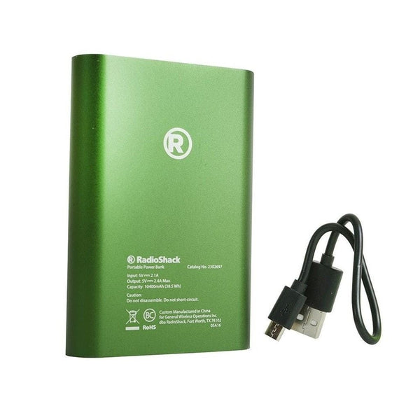 RadioShack 10,400 mAh Power Bank (Green)