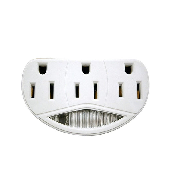 3-Plug Adapter with Nightlight