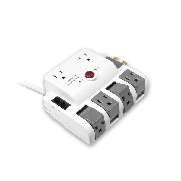 6-Outlet Rotating Surge with Network & Coaxial Protection