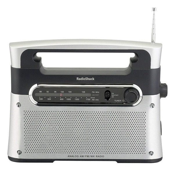 am fm weather tabletop radio radioshack. Black Bedroom Furniture Sets. Home Design Ideas