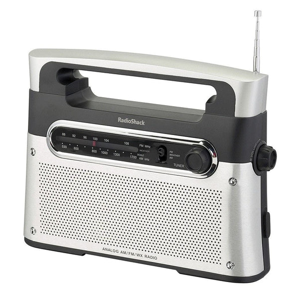 portable analog am fm wx weather radio. Black Bedroom Furniture Sets. Home Design Ideas