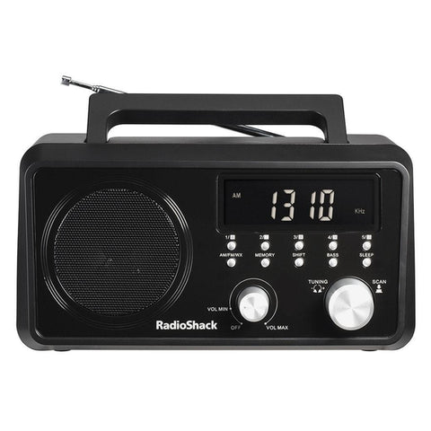 RadioShack Portable Digital Tuning AM/FM/Weather Band Table Radio