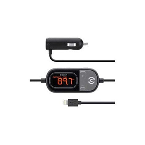 Belkin TuneCast Auto LIVE FM Transmitter with Lightning Cable