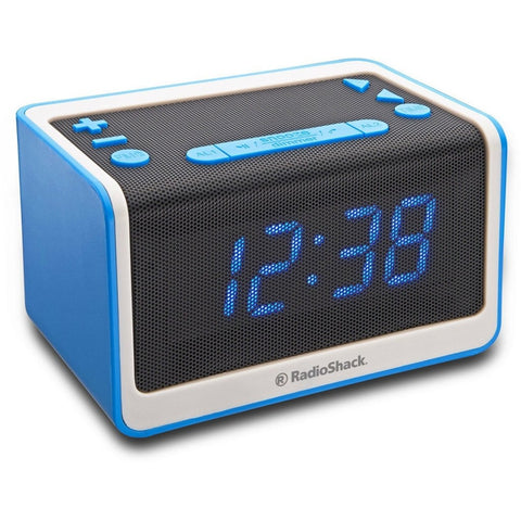 RadioShack 1.2-Inch Blue LED Bluetooth Clock FM Radio
