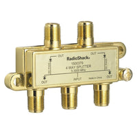Gold-Plated 4-Way 3GHz UHF/VHF/FM Coaxial Splitter