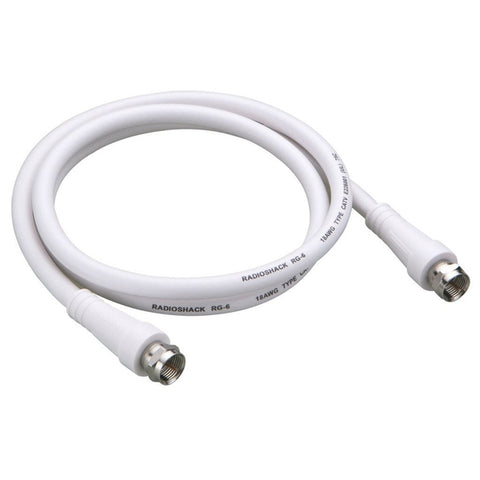 RadioShack 3-Foot RG-6 Coax Cable with F-Connector (White)