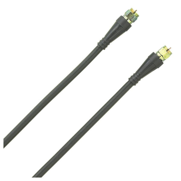 50ft RG6 Outdoor Coaxial Cable with Gold F-Connector (Black)