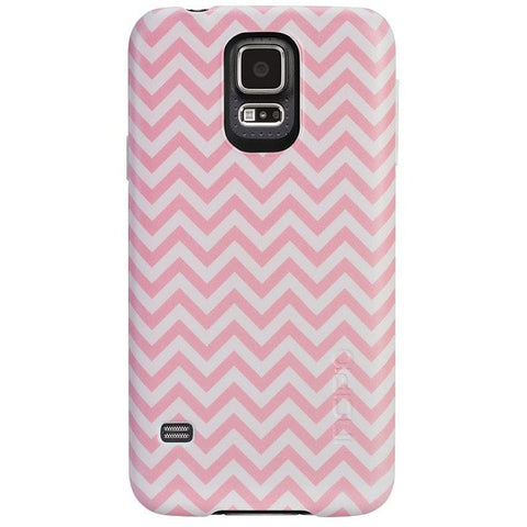 Incipio Feather Case for Samsung Galaxy S5 (Pink Chevron)
