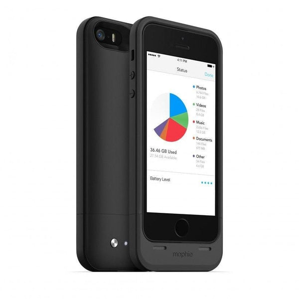 Mophie Space Pack Air 16 GB Cell Phone Case Apple iPhone 5S (Black)